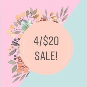 4 Items for 20$ sale !